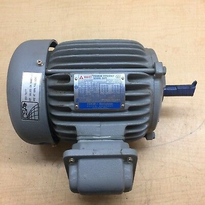 Teco-Westinghouse model 3H145C2001 2HP 3phase electric motor