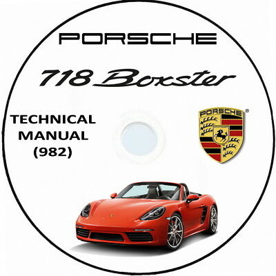 Porsche 718 Boxster (982),Technical Manual.Manuale Tecnico officina 2017