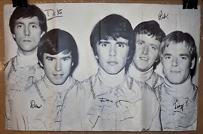 Vintage pin-up poster of THE DAVE CLARK FIVE pop rock music group r&r band 1960s