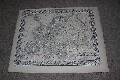 c.1871 Europe/Russia Antique Map by Mitchell
