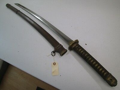 Ww2 Japanese High Quality Officers Sword With Scabbard Signed And Dated #tu102