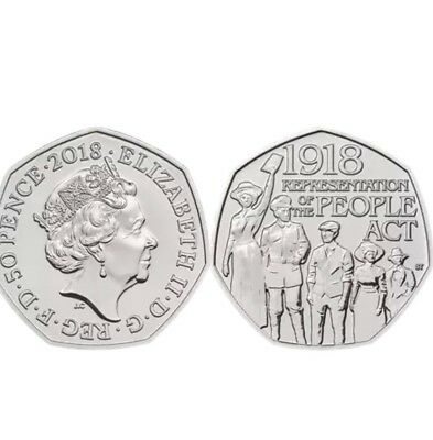 2018 Representation of the People Act UK CERTIFIED BU 50p Ready To Post