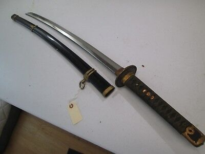 Ww2 Japanese Navy Officers Sword With Scabbard Near Mint Ancor Marked Matchi #r9
