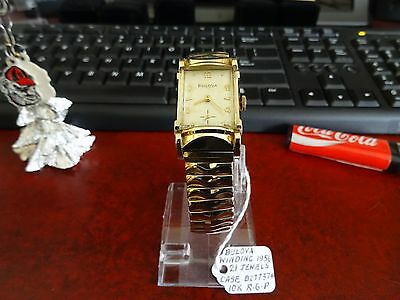 Vintage 1956 Bulova 10K R.G.P. 21-Jewels Watch w/ 16mm 10K Gold Filled Band!
