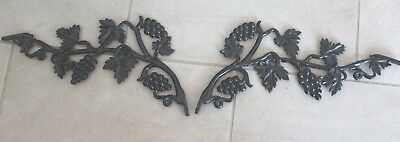 Pair *Antique VICTORIAN Cast Iron PORCH CORBEL Old ARCHITECTURAL SALVAGE Bracket