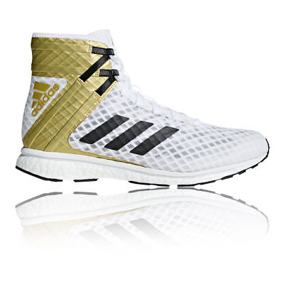 Adidas Speedex 16.1 Boost Boxing Boots Mens White Gold Sports Shoes Trainers