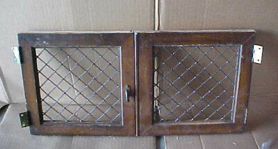 """Pair 2 SMALL WOOD DOORS FIT SMALL CABINET~FURNITURE  20"""" x 10"""" EACH~DIAGONAL~"""