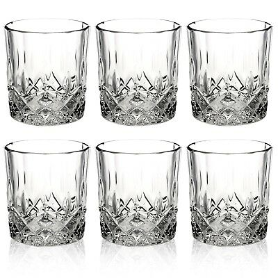 Queensway 6pc Whiskey Tumblers Drinking Glasses Gift Boxed Set Wedding Xmas NEW