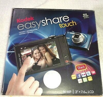 Kodak EasyShare Touch M5370 16.0 MP Digital Camera - Silver / New / Rechargeable