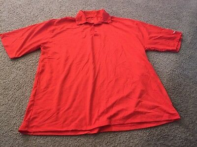 Nice men's size XXL M Resort Spa Casino Las Vegas bright orangish red polo shirt