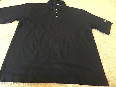 Men's size L Large Sope Creek navy blue Borgata Hotel Casino golf polo shirt