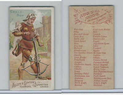 N3 Allen & Ginter, Arms of all Nations, 1887, Cross Bow
