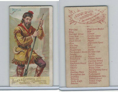 N3 Allen & Ginter, Arms of all Nations, 1887, Rifle