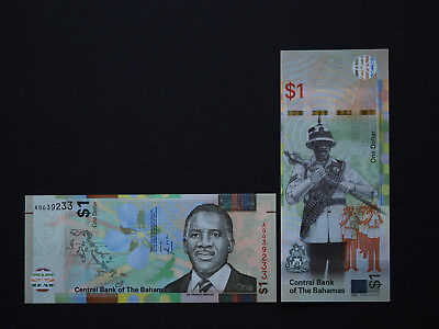 Bahamas Banknotes  $1  NEW Issue  -  Brilliant notes with great images MINT UNC
