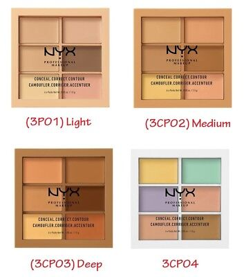 NEW!! (US SELLER) NYX Conceal, Correct, Contour Palette 3CP – Pick Your Color