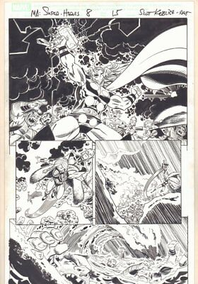 Marvel Adventures Super Heroes #8 p.15 - Thor Calling Lightning by Scott Koblish