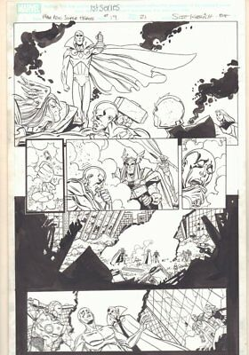 Marvel Adventures Super Heroes #19 p.21 Vision, Thor, Iron Man by Scott Koblish