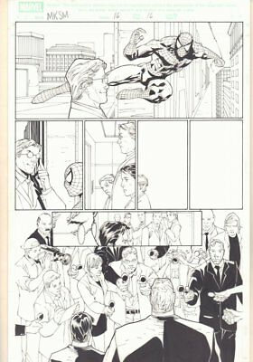 Marvel Knights Spider-Man #16 p.16 - Spidey Web-Slinging - 2005 art by Billy Tan
