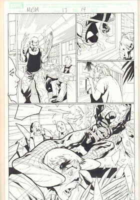 Marvel Knights Spider-Man #17 p.14 - Spidey Subway Action - '05 art by Billy Tan