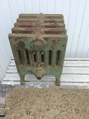 Antique Hot Water  Cast Iron Radiator Heater