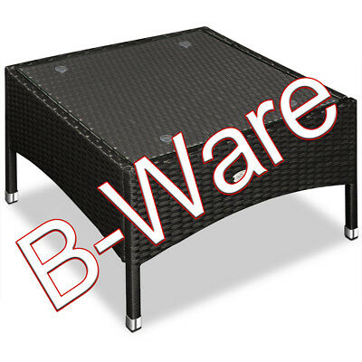 b ware poly rattan beistelltisch gartentisch tisch schwarz 58x58x42 cm eur 1 00 picclick de. Black Bedroom Furniture Sets. Home Design Ideas