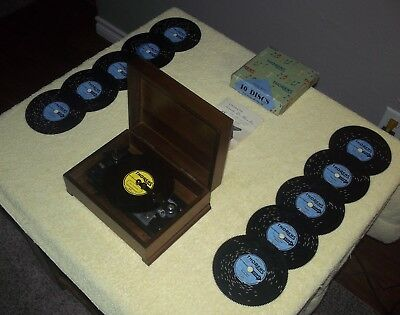 "THORENS  MUSIC BOX DELUXE AD-30 + 10 DISCS(complete boxed set ""D"""