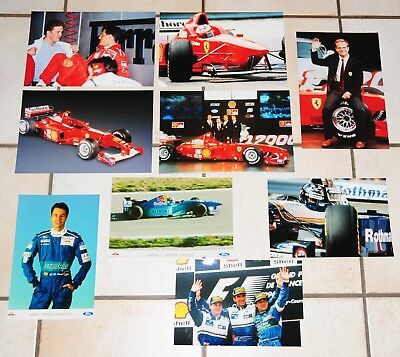 9 Formel 1 Fotos Ferrari Michael Schumacher Williams Damon Hill Villeneuve Alesi