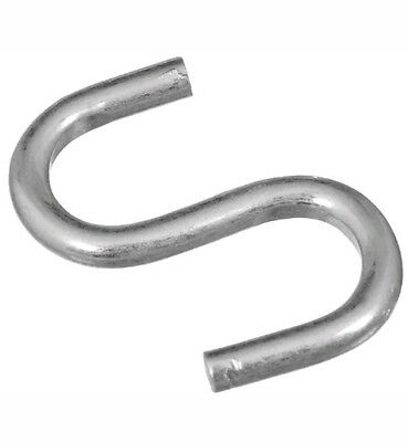 """180 Stanley National Hardware 2076BC 1"""" Zinc Plated Open S Hook - Heavy 20lb"""