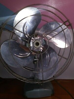 Vintage Oscillating 1 Speed Electric Fan, A C Gilbert co. New Haven ct. Art Deco