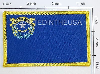 Nevada State Flag Embroidered Patch Sew Iron On Biker Vest Applique Emblem New