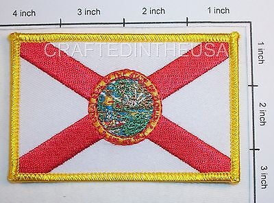 Florida State Flag Embroidered Patch Sew Iron On Biker Vest Applique Emblem New