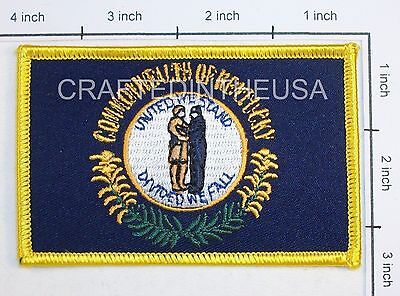 Kentucky State Flag Embroidered Patch Sew Iron On Biker Vest Applique Emblem New