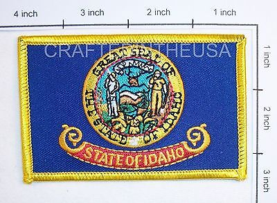 Idaho State Flag Embroidered Patch Sew Iron On Biker Vest Applique Emblem New