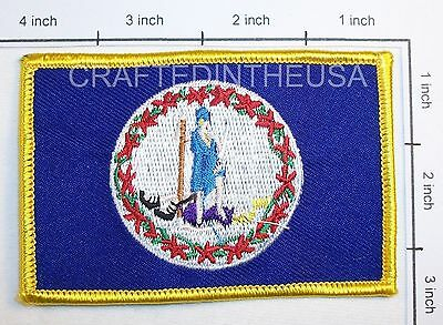 Virginia State Flag Embroidered Patch Sew Iron On Biker Vest Applique Emblem New