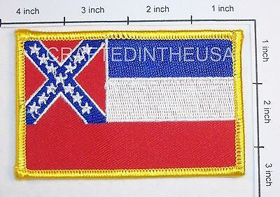 Mississippi State Flag Embroidered Patch Sew Iron On Biker Vest Applique Emblem