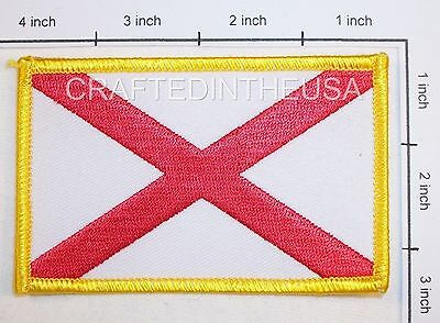 Alabama State Flag Embroidered Patch Sew Iron On Biker Vest Applique Emblem New