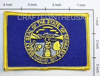 Nebraska State Flag Embroidered Patch Sew Iron On Biker Vest Applique Emblem New