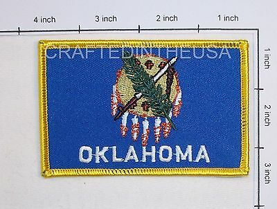Oklahoma State Flag Embroidered Patch Sew Iron On Biker Vest Applique Emblem New