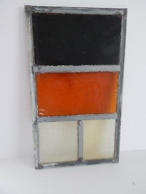 """Vintage Stained Glass Window Panel From Old Church  8 3/8""""  x 14 3/8 """"    1 of 8"""