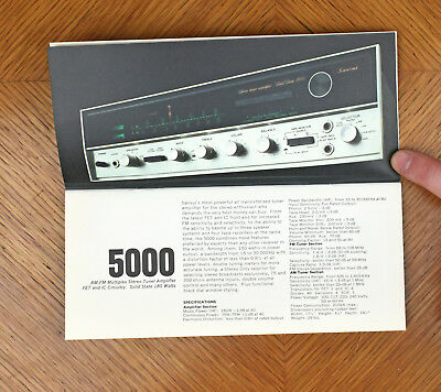 VTG 1960s Sansui Electric Co Advertising Sales Brochure [a83]