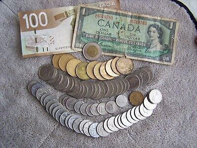 Canada Money, coin and paper, $124.00 face value