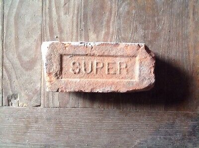Antique Brick Stamped With The Letter  *** Super ***