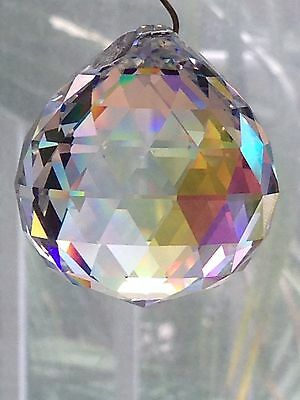 Beautiful 20mm Swarovski Crystal Disco Ball Prism Suncatcher Sparkles!