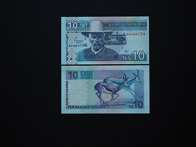 Namibia Banknotes $10 Quality Issue with Excellent images  Date  2001   MINT UNC