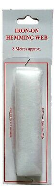 Washable Iron On Hemming Tape Fabric Alter Fusible Invisible Repair 2, 5 Or 10m