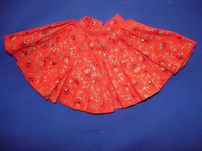 Vintage Madame Alexander Cissette Doll Tagged Red print circle skirt 1950's
