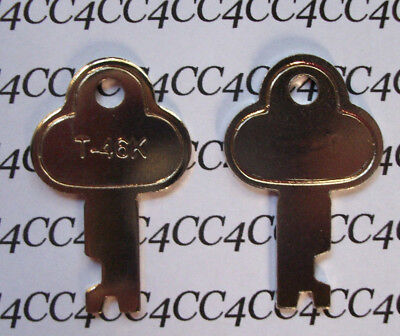 LONG Lock Key Trunk Lock Case Steamer Lock T-46K T46 Key