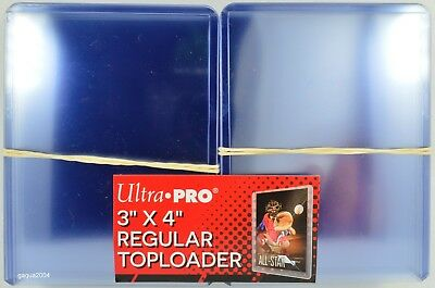 "Ultra Pro Top Loaders 3""x4"" Regular for Trading Cards, 1 Pack of 25"