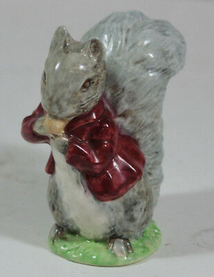 """Beswick Beatrix Potter Timmy Tiptoes Figurine 3 1/2"""" Tall Squirrel Eating 1948"""