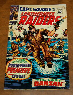 Capt. Savage and his Leatherneck Raiders #1 January 1968 VG- First Issue Marvel